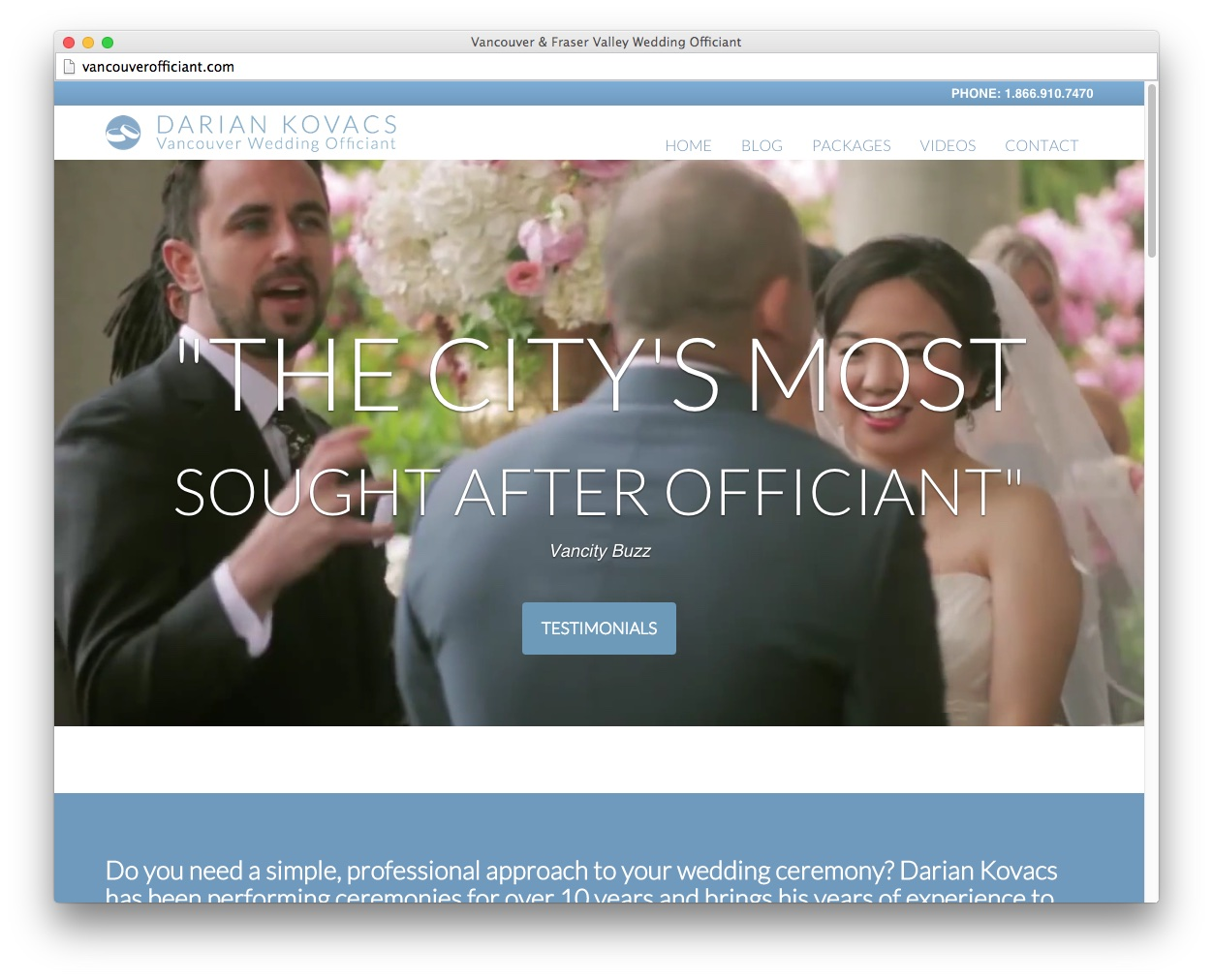 Vancouver Officiant